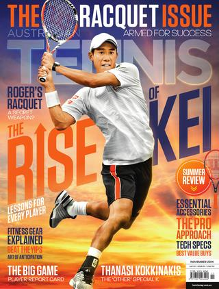 "Magazine cover of November 2014 issue ""The Racquet Issue"""