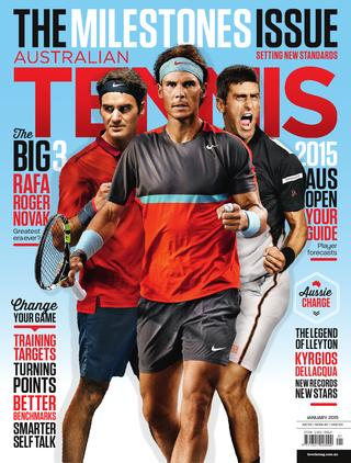 "Magazine cover of January 2015 issue ""The Milestones Issue"""