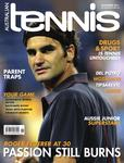 "Magazine cover of November 2011 issue ""Roger Federer at 30: Passion still burns"""