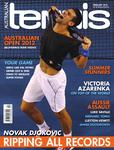 "Magazine cover of February 2012 issue ""Novak Djokovic: Ripping All Records"""