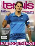 "Magazine cover of June 2012 issue ""Roger Federer: Maestro On The Move"""